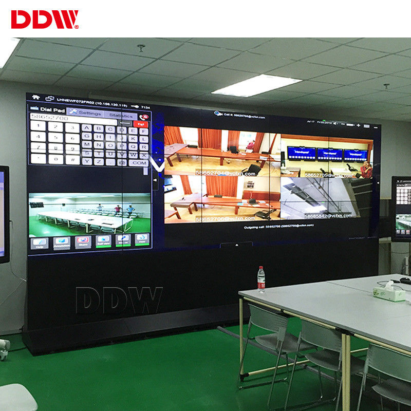 Multi Monitor CCTV Video Wall 500nits Brightness For Security Center Exhibition