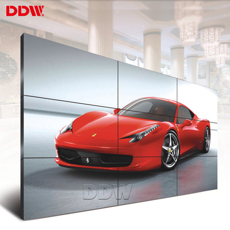 Police Station CCTV Video Wall 49 Inch Indoor Semi Outdoor 3.5mm Ultra Narrow Bezel